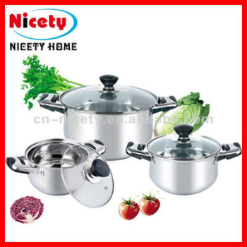 6pcs stainless steel cookware