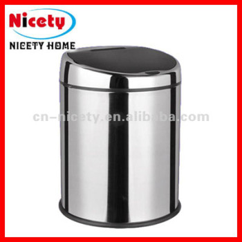 stainless steel rubbish bin