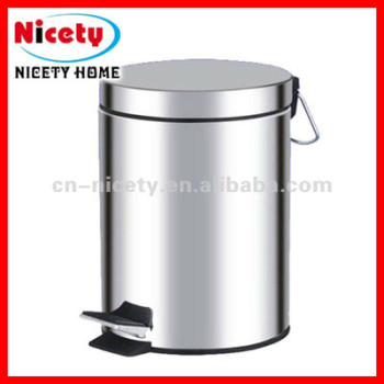 foot pedal stainless steel garbage can