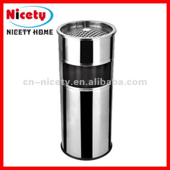 stainless steel standing trash bin
