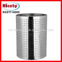 stainless steel paper waste basket