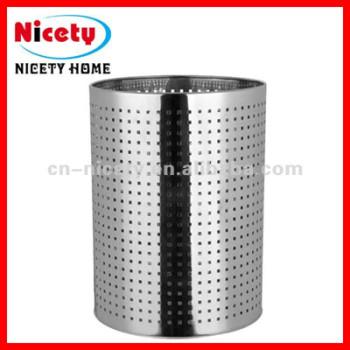 stainless steel paper waste basket
