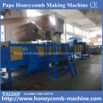 Laminated paper honeycomb board machine