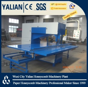 Band saw for honeycomb panel slitting