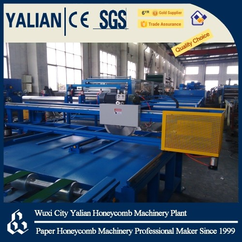 Vertical corrugated paper panel machine