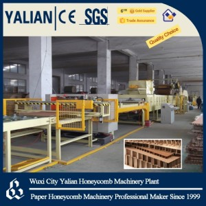 Paper honeycomb wallboard machine