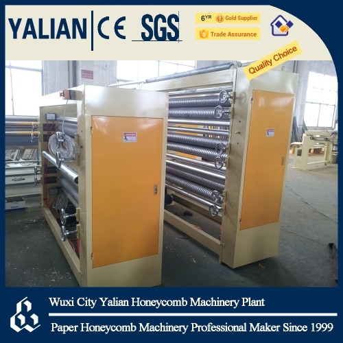 Paper honeycomb wallboard machine