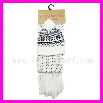 Fashion Adult Scarf Hat Glove Set