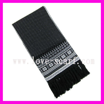 Double Layer Knitted Scarf