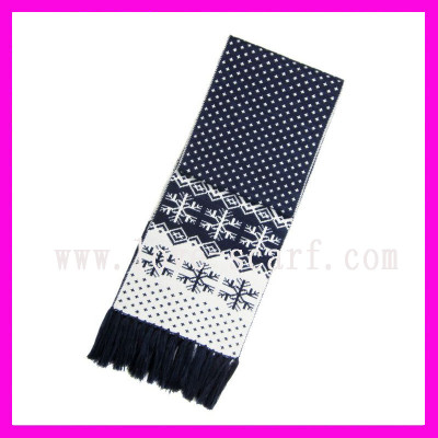 Thick Double Faced Jacquard Scarf