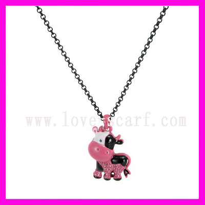 Cow Pattern Pendent Necklace