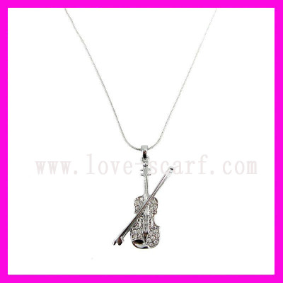 Violin Pendant Necklace