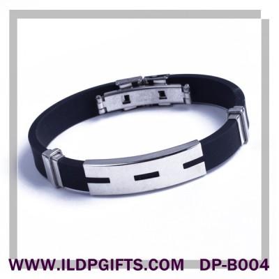 Silicone Metal Bracelet