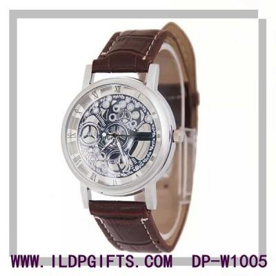 Skeleton  design quartz wristwatch