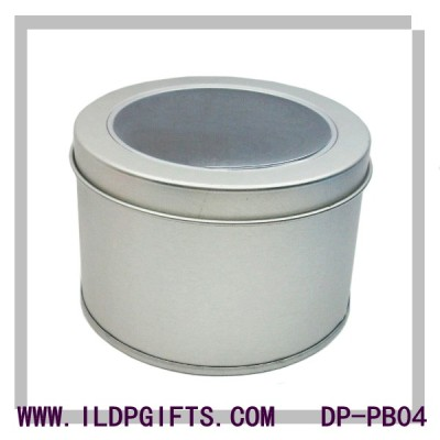 Round shape tin packing box