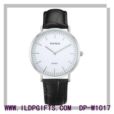 Low MOQ Alloy Case Waterproof Leather Watch
