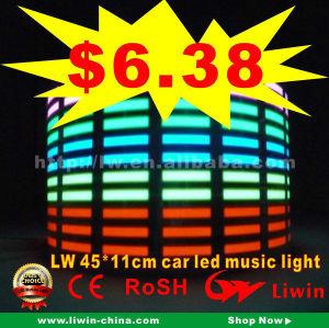 12v carro música ritmo lâmpada led som ativadas equalizar