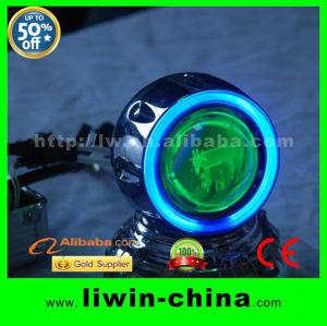 新しい設計された20133d効果オートバイhidプロジェクターヘッドランプ