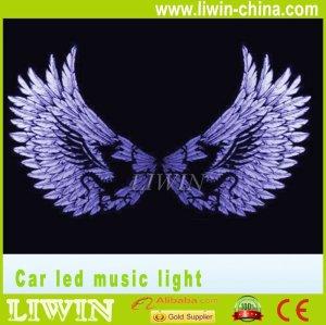 auto carro de som sensor de luzes led ritmo da música de luz