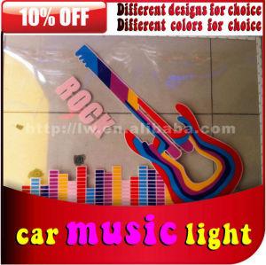 carro música ritmo de luz com controle de som misic luz