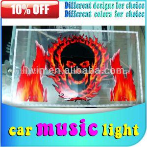 2013 hotsale car music rhythm lights with sound control