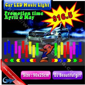 hot sell 12v car led music light for car