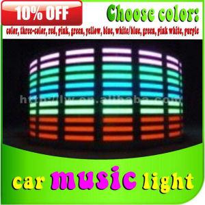 hot vender 12v 5 cores carro música ritmo lâmpada para carro