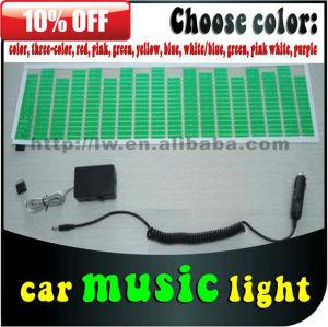 70x16cm carro música ritmo lamp12v música digital led tube multi cor luzes piscando