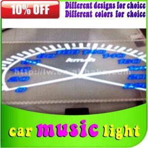 lw 70x16cm música som sensor de ritmo lâmpada para carro adesivos com ciggar isqueiro