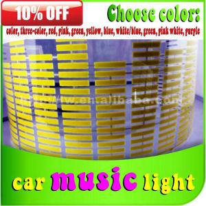 lw auto carro levou interior luz de ritmo e música com cores diferentes