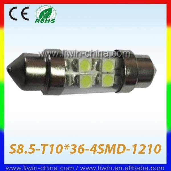 Iluminação led carro s8.5- t10*36- 4 smd- 1210