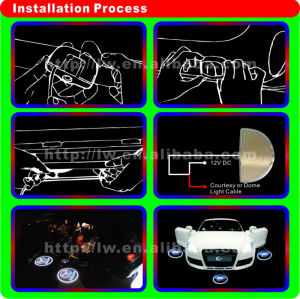 2013 hot sale car led logo laser light