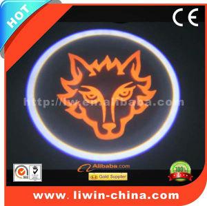 TOP sales-newest design!!!12V 5W full color cree led car logo laser light