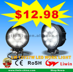 2013 hotest 50% discount led work light 27w for cars