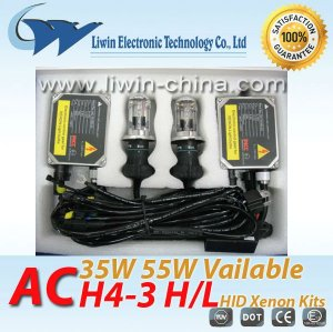 superior quality 12v 35w ac h4-3 h/l normal ballast hid kids