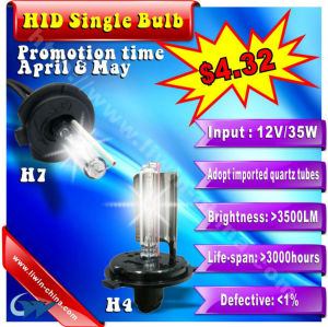 50% off discount single bulb hid xenon light 12v 35w