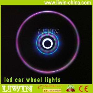 carro conduzido luzes de pneus lâmpada de flash sete cores levou carro luzes da roda