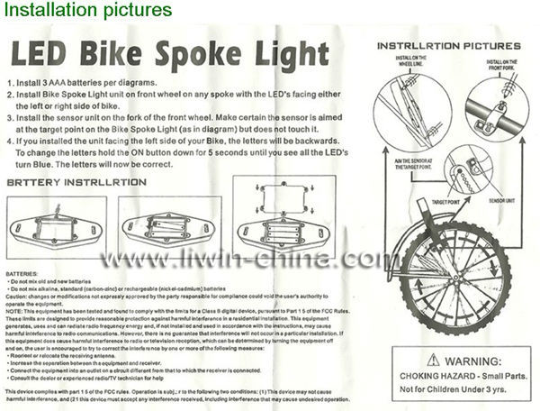 silicon led bike raios de luz