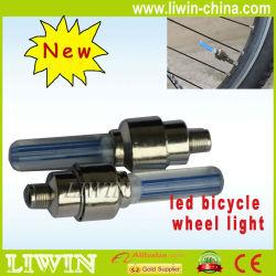 Impermeável quente 14 led pneu de bicicleta luz raios da roda, bicicleta falou luz com 8 design