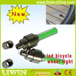 파란 자전거 자전거 바퀴는 말했다 철사 타이어 밝은 LED 가벼운 램프 (#2239)를