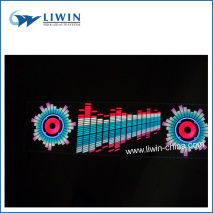 2014 Cool and New Style el musical actived car sticker