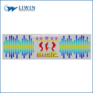 2014 music activated equalizer el car sticker