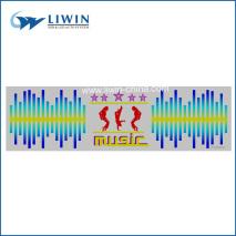 2014 music activated equalizer el car sticker