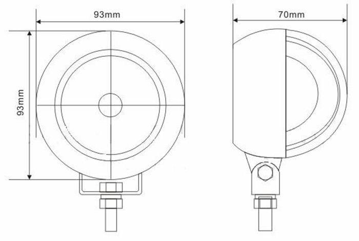 Super qualité d'approvisionnement d'usine ronde design oem acceptable et principe de fonctionnement de la lumière du tube