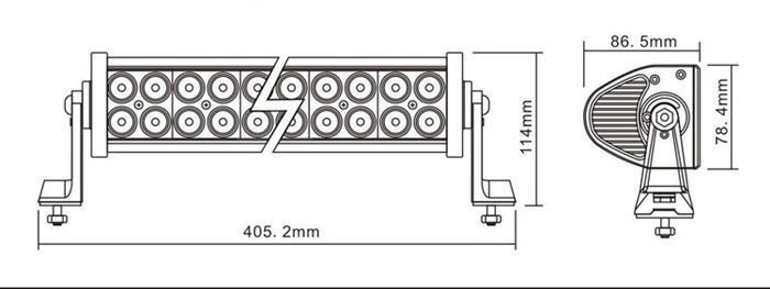 2014 hot super qualité accessoires de voiture décodeur haute lumen aucune erreur importés double rangée barre lumineuse