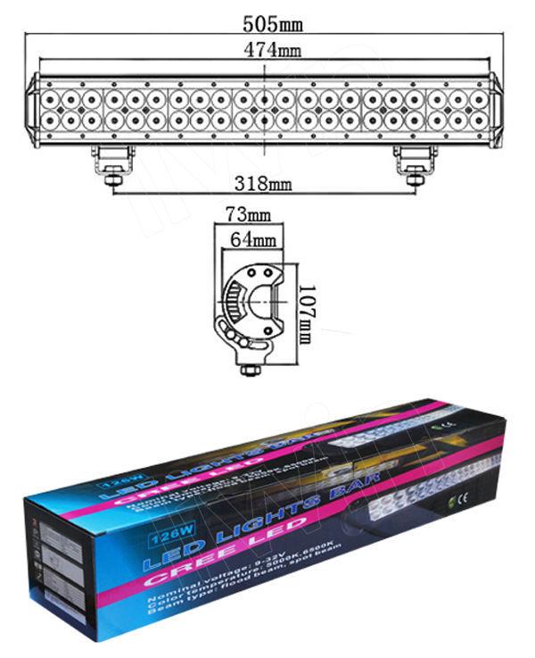 Liwin дешевые 126w свет бар, внедороёный привело свет бар для грузовых автомобилей грузовик головная лампа трактор лампы