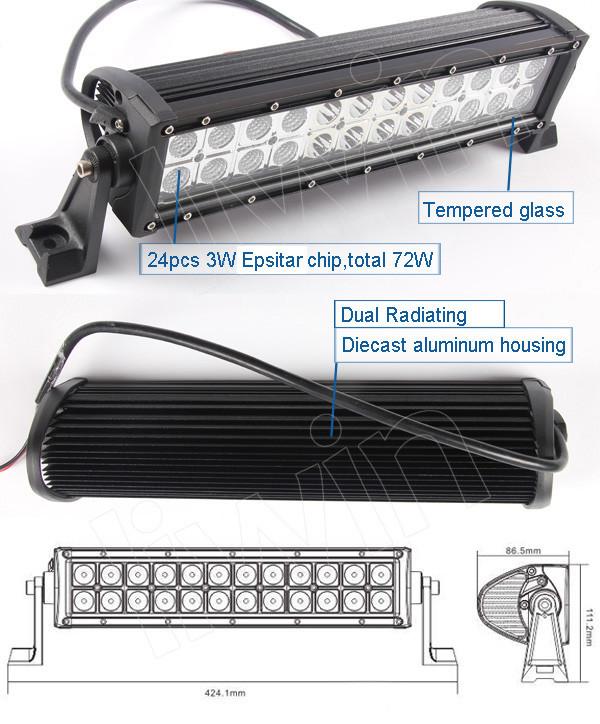 liwin emark 승인 offroad 배터리 전원을 주도 빛 바 4x4 SUV 꼬리 빛이 주도 내내