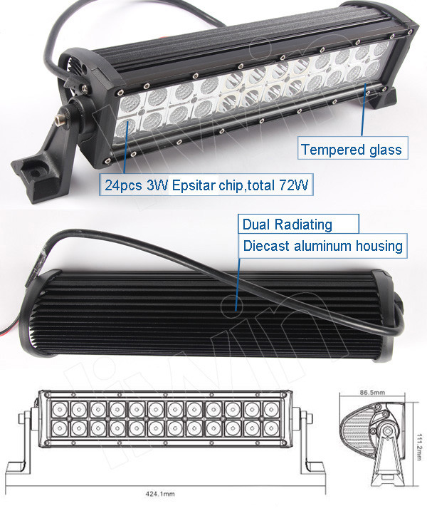 LIWIN Emark approved offroad 5050 smd epistar led light bar for trucks Atv lights reflector