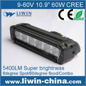 新しい2015liwin単列60w24vトラックledトラックライト販売のための、 オートledの自動ランプ、 ledライトバーオフロード、 ledフォグライト