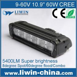 Nuevo 2015 liwin sola fila 24v camiones camiones led luces 60w para la venta, auto conducido automático de la lámpara, off road de luz led de barras, led de luz de niebla